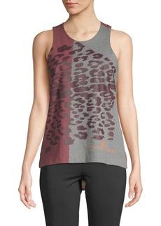 Adidas by Stella McCartney Leopard Hi-Lo Tank Top