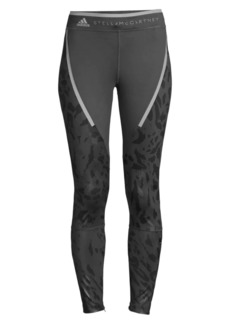 Adidas by Stella McCartney Leopard Recycled Polyester Compression Leggings