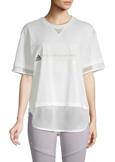 Adidas by Stella McCartney Logo Cotton-Blend Tee