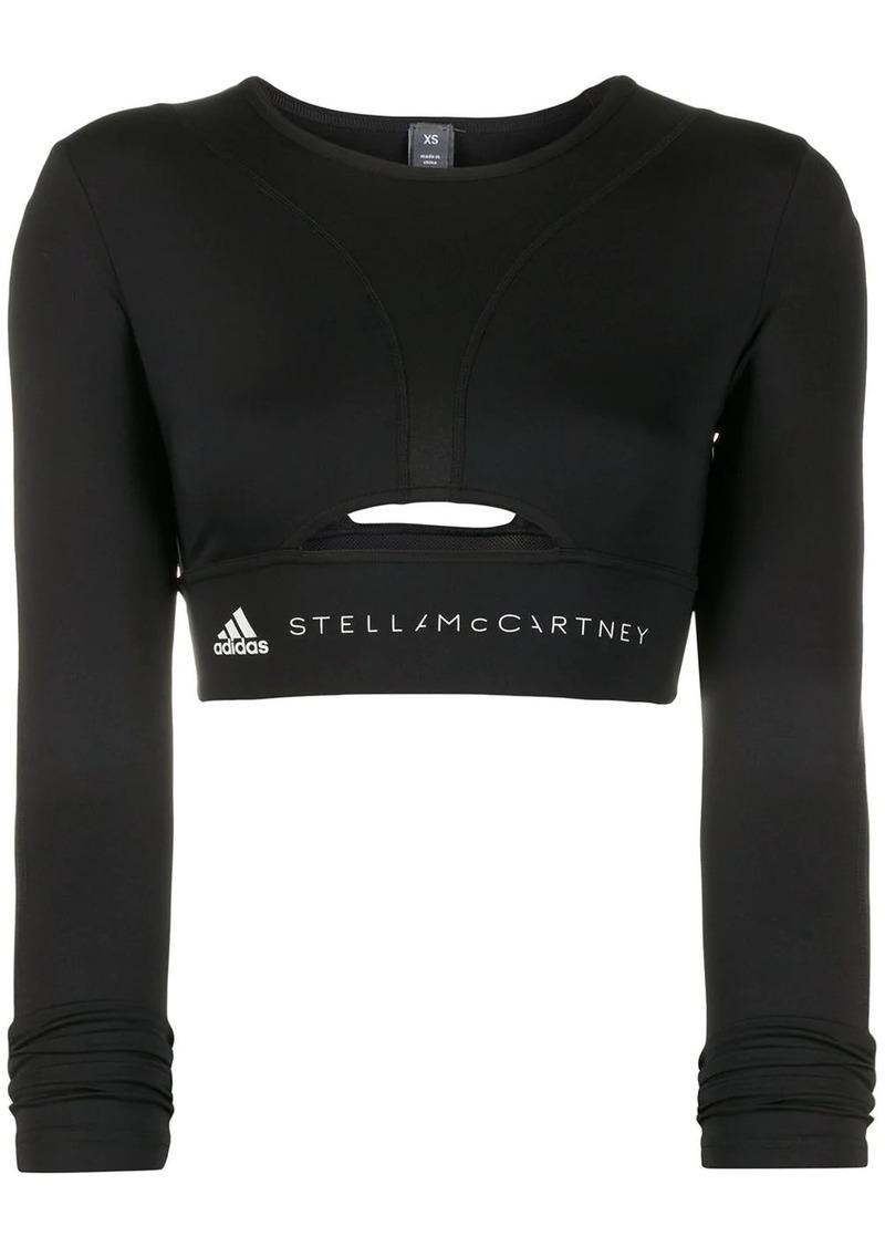 Adidas by Stella McCartney logo crop top