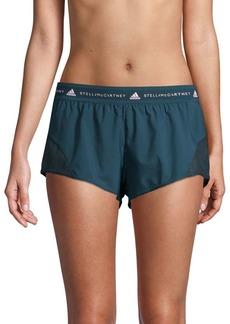 Adidas by Stella McCartney Logo Waist Stretch Mesh Shorts