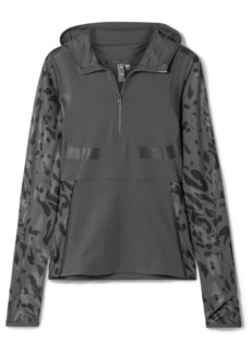 Adidas by Stella McCartney Parley For The Oceans Run Hooded Printed Climalite Top