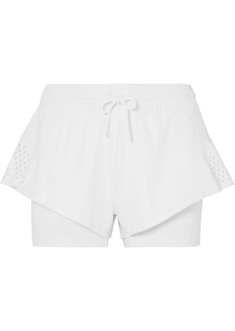 Adidas by Stella McCartney Perforated Stretch Shorts