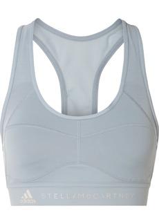 Adidas by Stella McCartney Performance Essentials Mesh-paneled Climalite Sports Bra