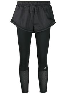 Adidas by Stella McCartney Performance Essentials shorts over leggings