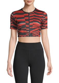 Adidas by Stella McCartney Printed Cropped Top