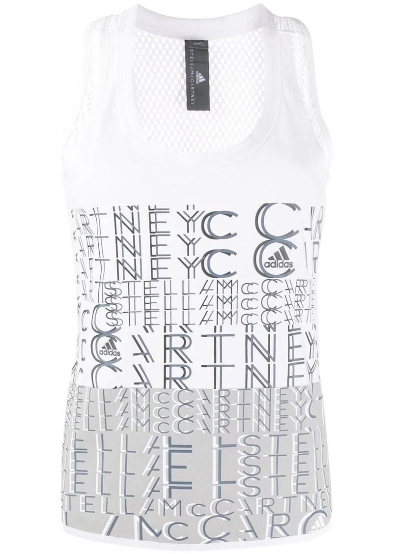 Adidas by Stella McCartney printed logo vest
