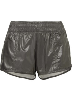 Adidas by Stella McCartney Run 2-in-1 Mesh-trimmed Glossed-shell Shorts