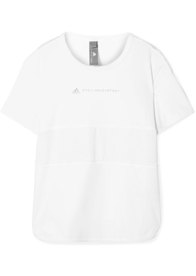 Adidas by Stella McCartney Run Loose Climalite And Mesh T-shirt