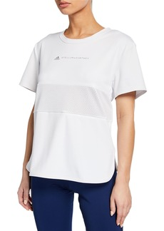 Adidas by Stella McCartney Run Loose Short-Sleeve Athletic Tee