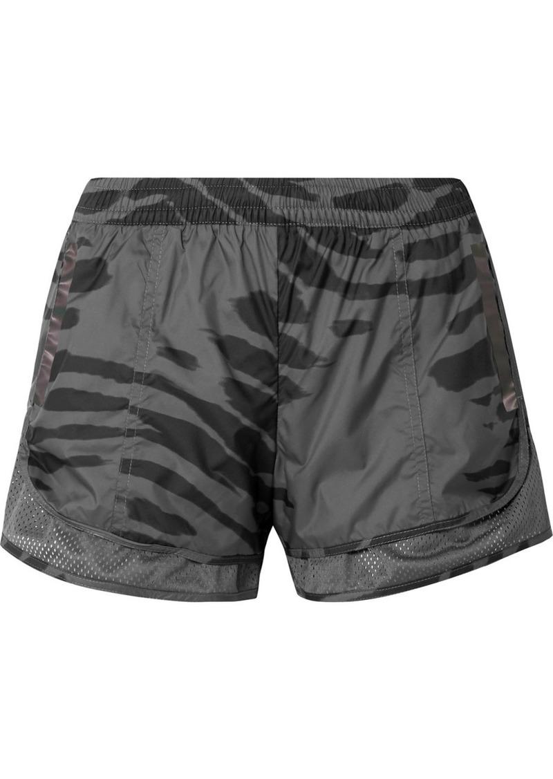 Adidas by Stella McCartney Run M20 Mesh-trimmed Printed Climastorm Shorts