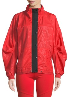 Adidas by Stella McCartney Run Wind-Resistant Zip-Front Performance Jacket