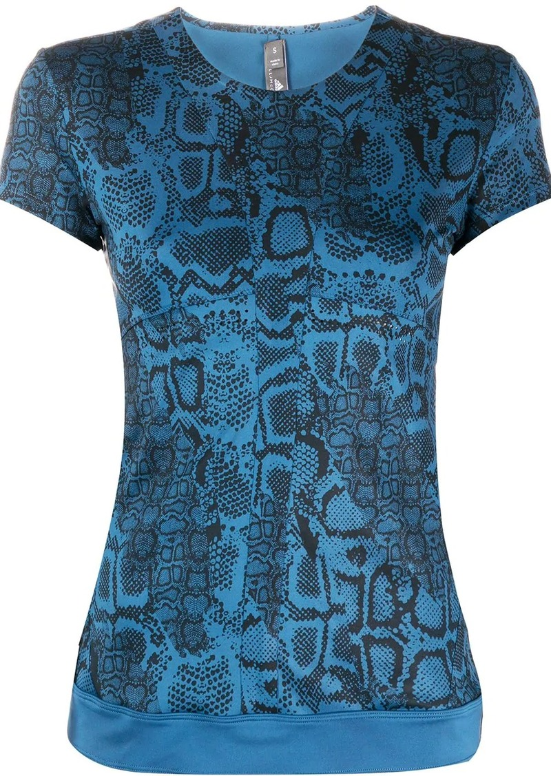 Adidas by Stella McCartney snakeskin-print T-shirt