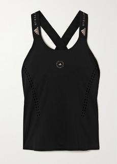 Adidas by Stella McCartney Truepur Perforated Stretch-jersey Tank