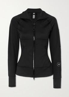 Adidas by Stella McCartney Truepurpose Perforated Stretch-jersey And Mesh Jacket