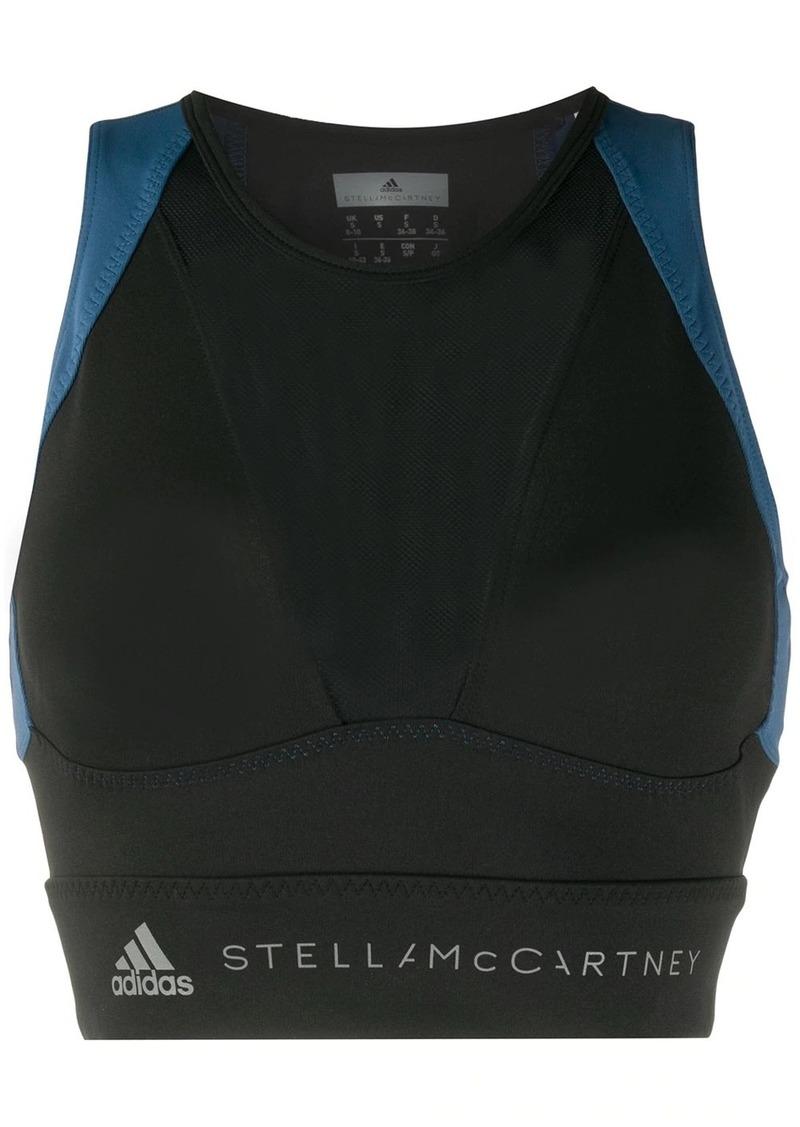 Adidas by Stella McCartney two-tone crop top