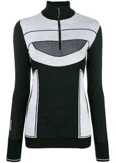 Adidas by Stella McCartney two tone knit jumper