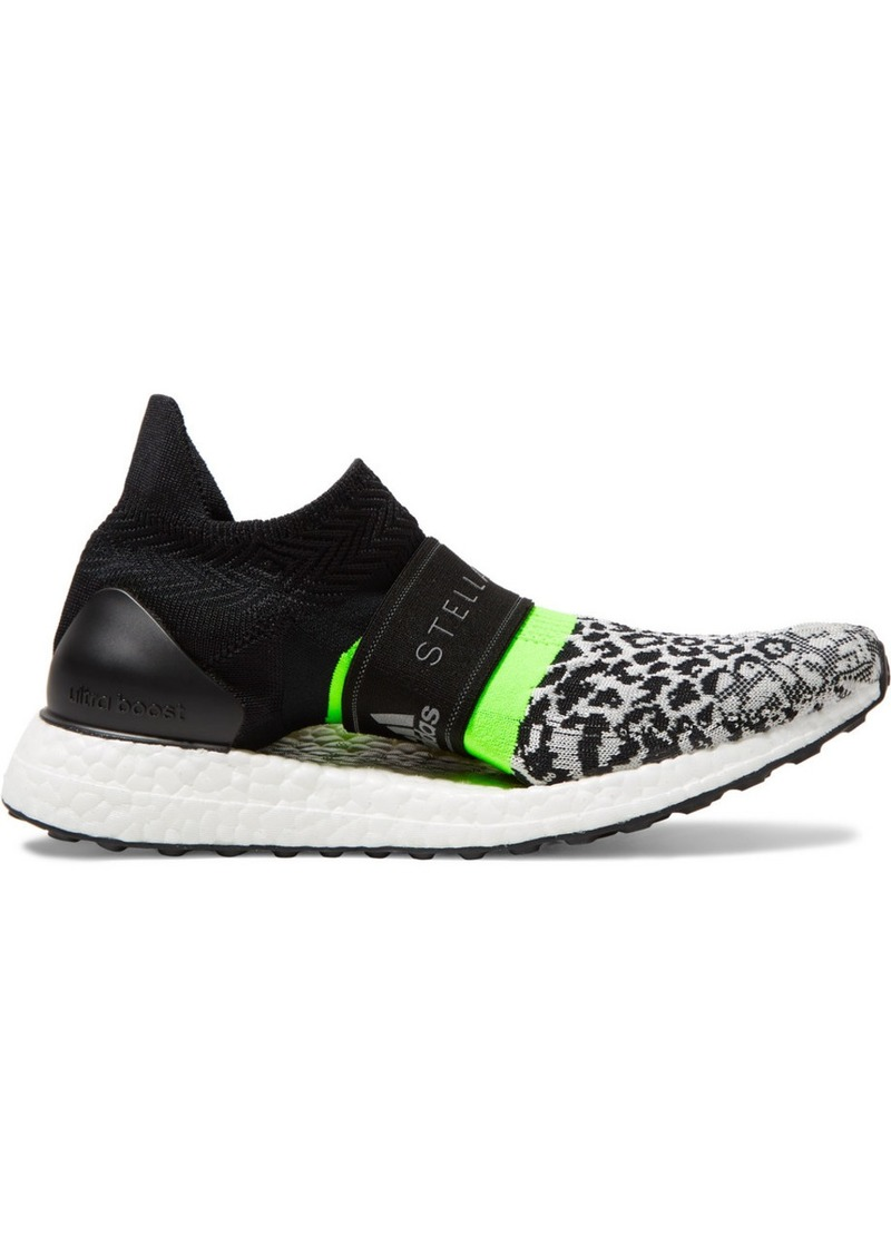 Adidas by Stella McCartney Ultraboost X 3ds Leopard-print Primeknit Sneakers