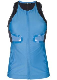 Adidas by Stella McCartney zip front running tank