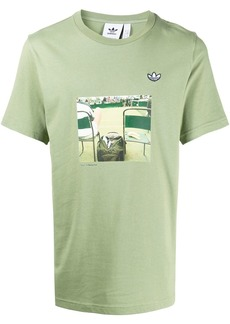 Adidas centre court print T-shirt