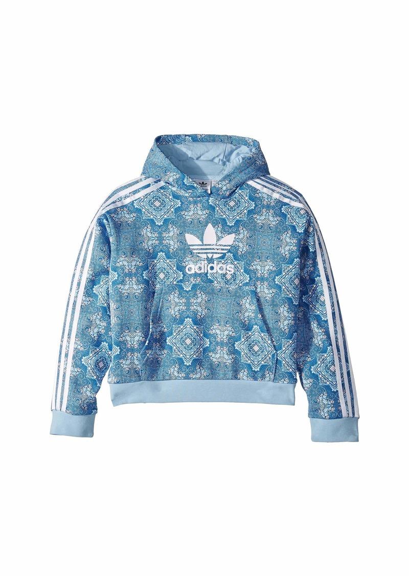 Adidas Clear Sky Crop Hoodie (Little Kids/Big Kids)