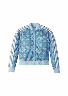 Adidas Clear Sky Crop Superstar Track Jacket (Little Kids/Big Kids)
