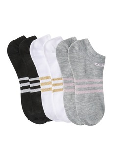 Adidas Climate Compression White Gold Lurex Stripe Ankle Socks - Pack of 3