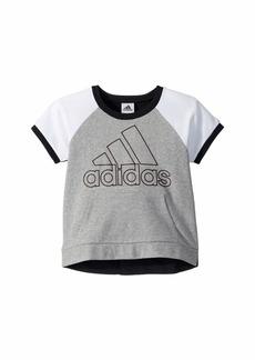 Adidas Color Block Raglan Top (Big Kids)