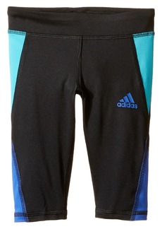 Adidas Color Blocked Capri Tights (Toddler/Little Kids)
