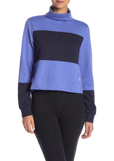 Adidas Colorblock Panel Turtleneck Sweatshirt