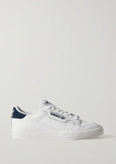 Adidas Continental Vulc Suede-trimmed Leather Sneakers
