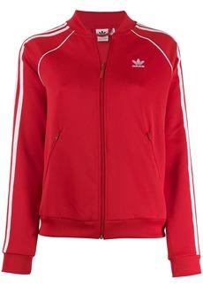 Adidas contrast logo bomber jacket