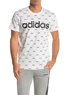 Adidas Core Fav Printed Brand Text T-Shirt