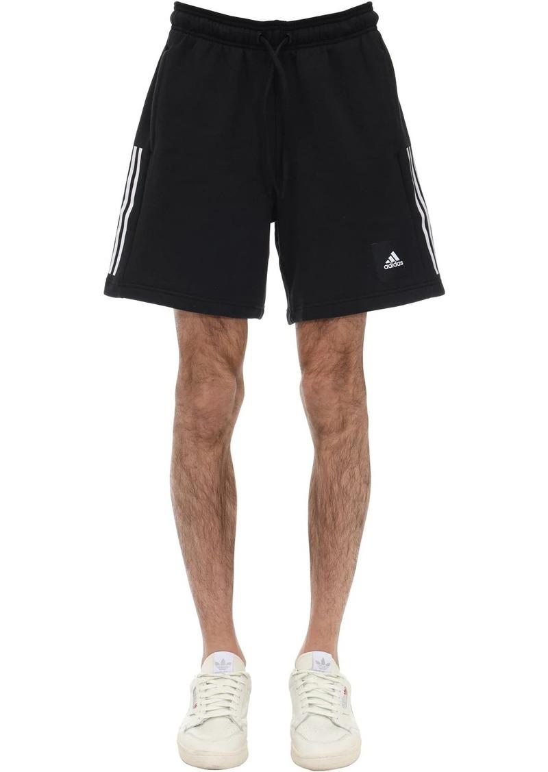Adidas Cotton Blend Sweat Shorts