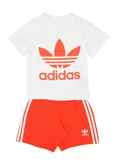 Adidas Cotton Jersey T-shirt & Shorts