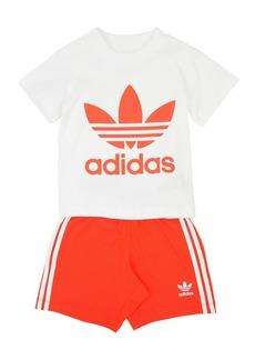 Adidas Cotton Jersey T-shirt & Shorts