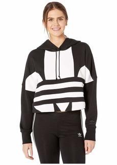 Adidas Cropped Large Logo Hoodie