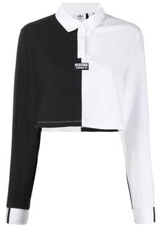 Adidas cropped two tone polo shirt