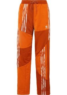 Adidas Daniëlle Cathari Striped Paneled Satin-jersey Track Pants