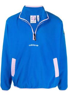 Adidas embroidered-logo stand-up collar sweatshirt