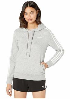 Adidas Essential 3 Stripe Fleece Hoodie