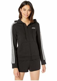 Adidas Essential 3 Stripes Fleece Full Zip Hoodie