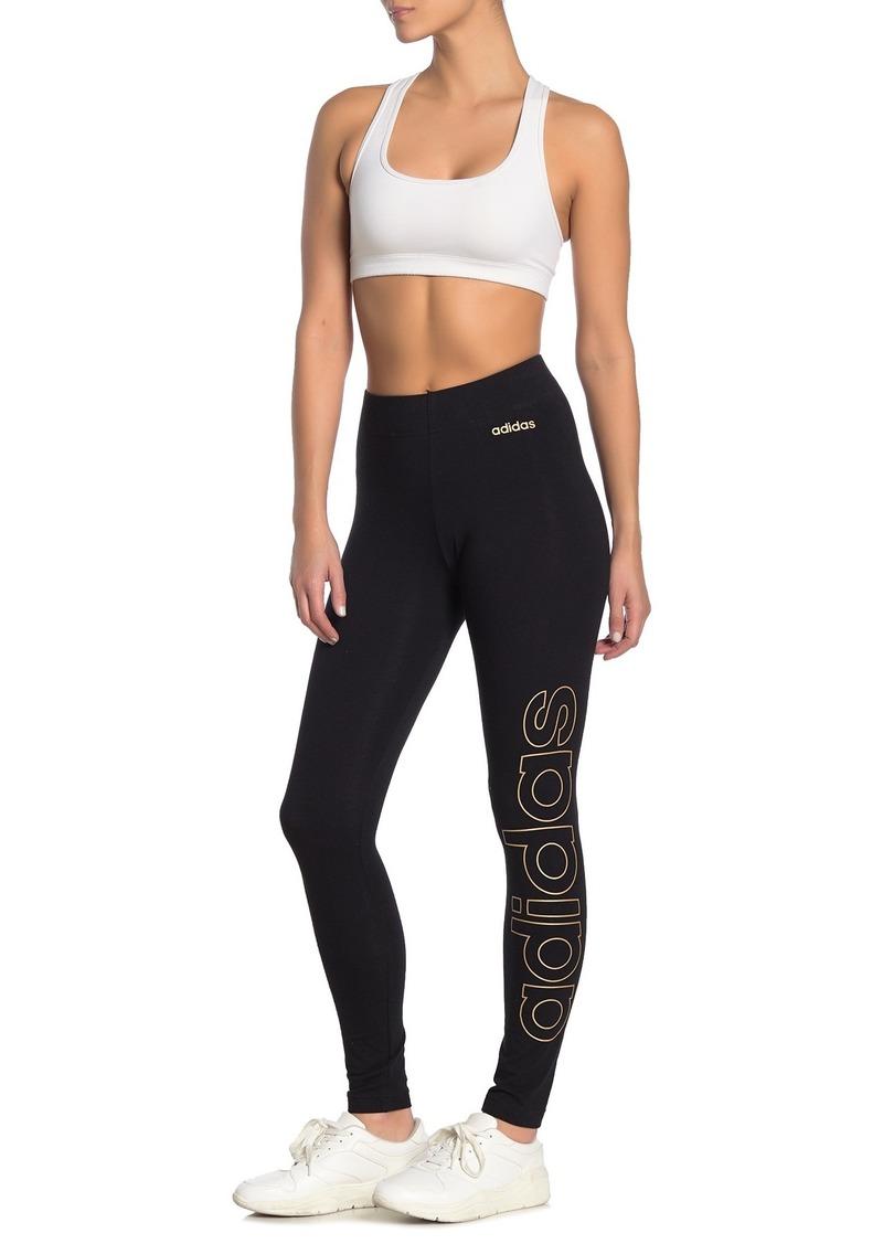 Adidas Essential Branded Logo Leggings