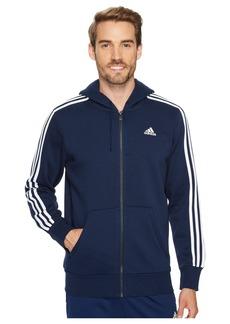 Adidas Essentials 3S Full Zip Brushed Fleece Hoodie