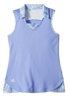 Adidas Fashion Print Sleeveless Polo (Big Kids)