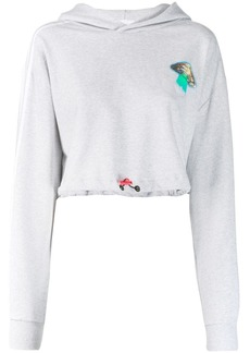 Adidas Fiorucci cropped hoodie