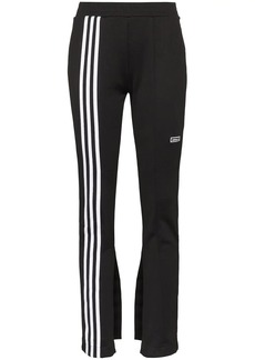 Adidas flared three-stripe track pants