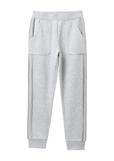 Adidas Fleece Stripe Jogger Pants (Big Girls)