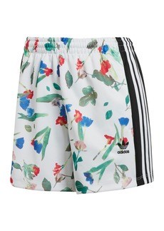 Adidas Floral 3-Stripes Shorts