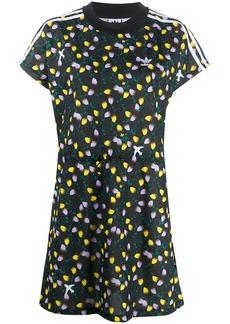 Adidas floral-print logo T-shirt dress